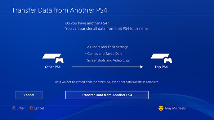 How to transfer data from PS4 to PS4 Pro - transferring saves, games