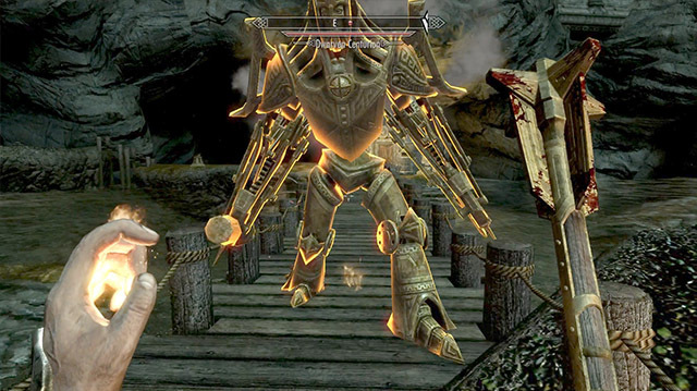 We Get Smashed by Giant Dwarven Robot in Skyrim Mod The Forgotten City