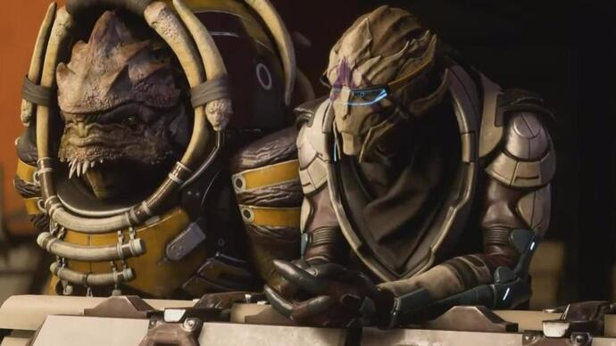 Five minutes of Mass Effect Andromeda gameplay reveals krogan, turian squadmates