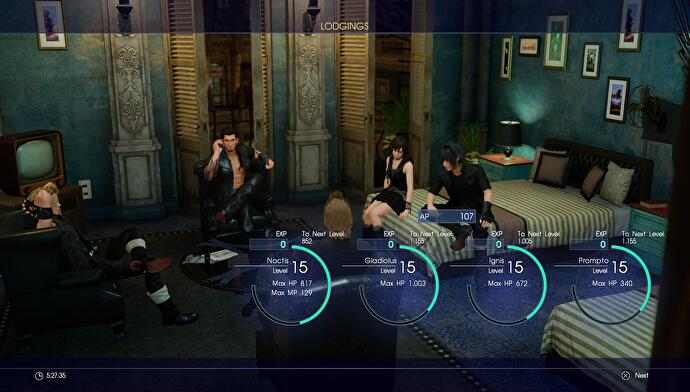 Final Fantasy 15 EXP sources - How to get experience and level up
