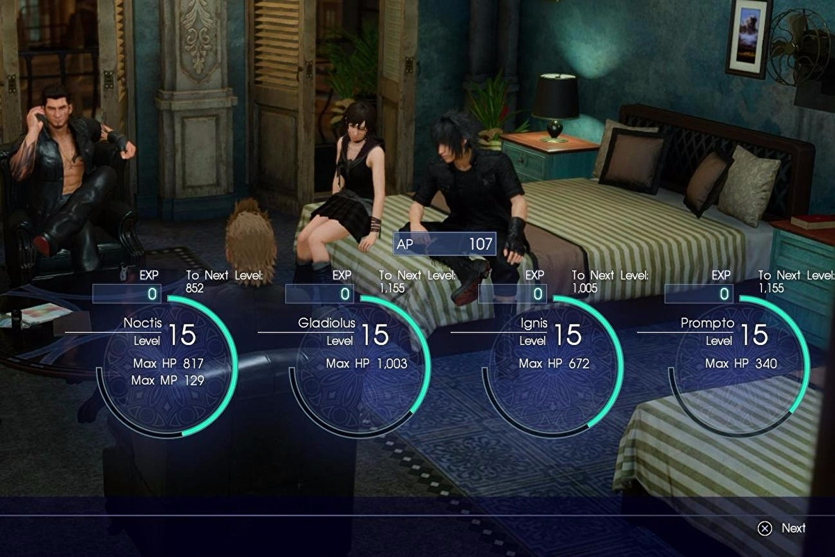 Final Fantasy 15 EXP sources How to get experience and