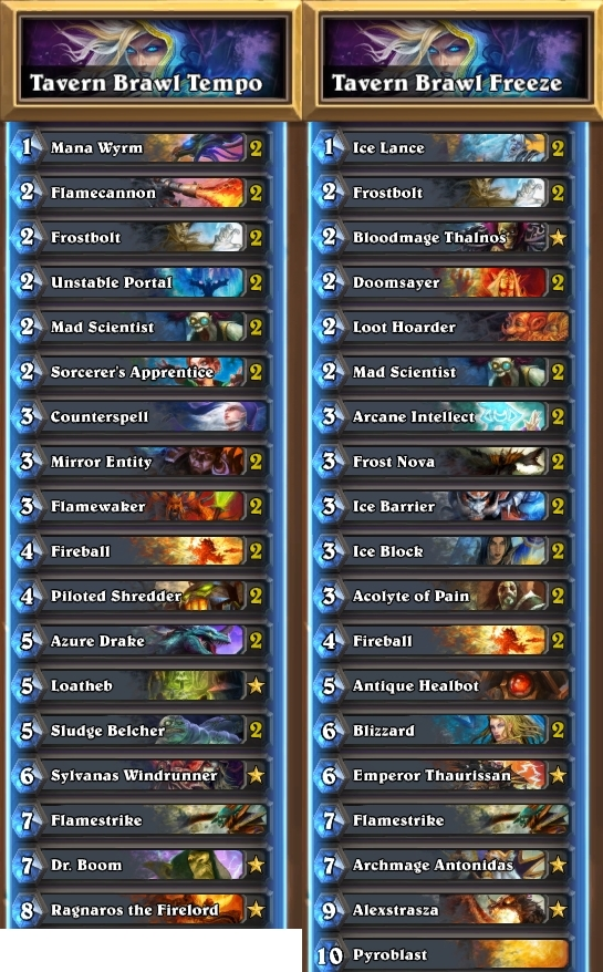 Hearthstone Freeze Mage Deck Build