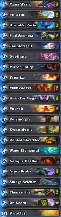 how to build a mage deck in hearthstone