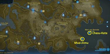 Breath Of The Wild Schreine Karte.Zelda Breath Of The Wild Muo Jiimu Schrein Chasu Keta Schrein