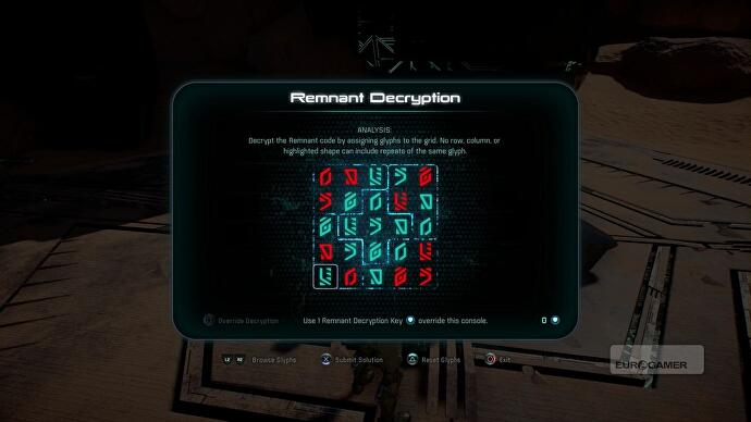 Mass Effect Andromeda Remnant Decryption Puzzle Solutions All