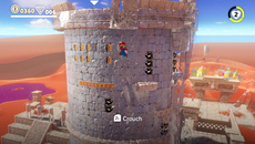 Certain sections of the desert stage see Mario transition to an 8-bit NES style of visuals mapped along 3D objects. The execution is brilliant and lends extra charm to the stage.