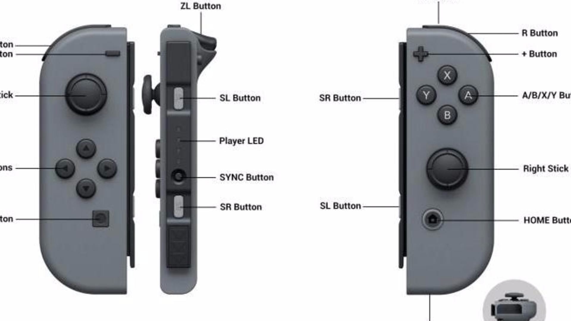 A Pair Of Nintendo Switch Joy Con Controllers Costs 75 Grey
