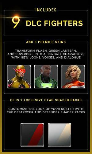 Injustice 2 special editions include dlc characters as premier skins