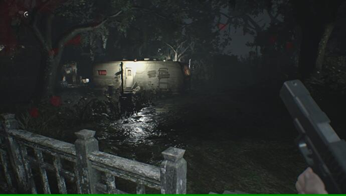 Resident Evil 7 - Yard, Old House explored, where to find the Burner