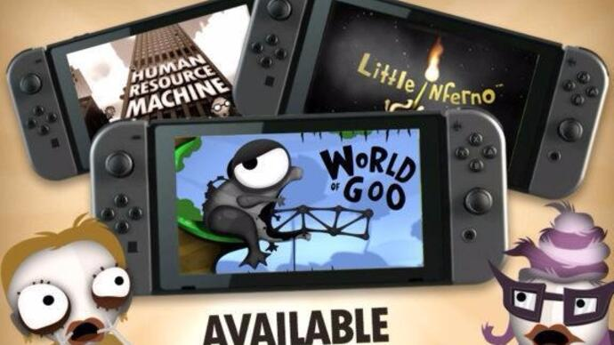 World of Goo, Little Inferno, and Human Resource Machine will be Switch launch titles