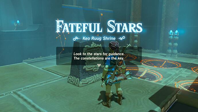 Zelda - Keo Ruug and Fateful Stars trial solution in Breath of the