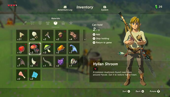 Zelda: Breath of the Wild cooking explained - ingredients