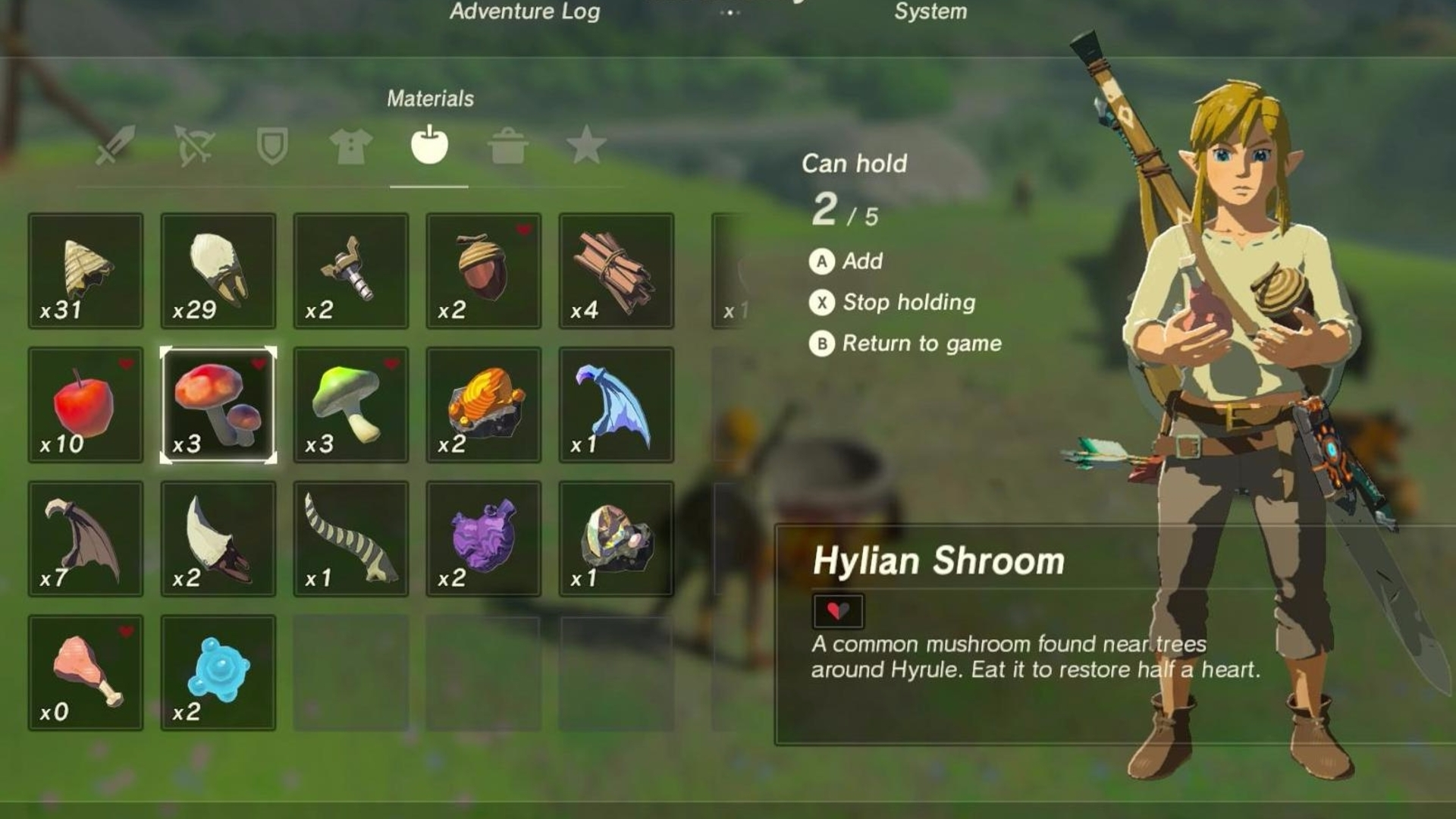 zelda breath of the wild cooking explained ingredients list
