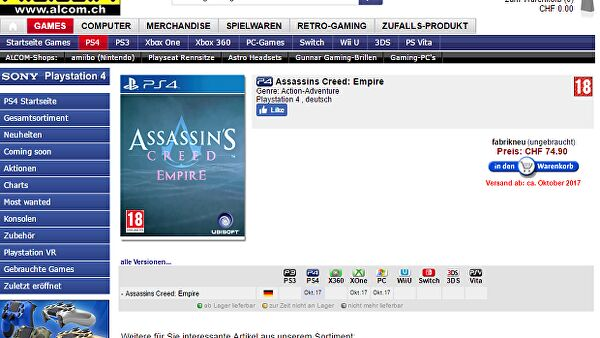 Assassin's Creed Empire ci porta in Egitto