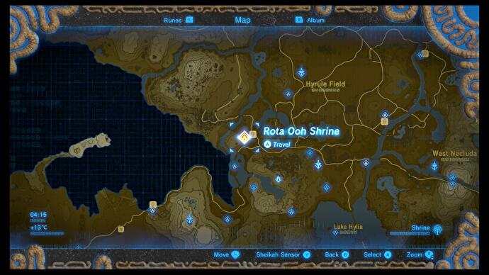 Zelda - Rota Ooh and Passing of the Gates trial solution in Breath