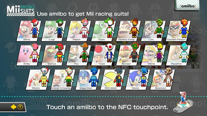 Mario Kart 8 Deluxe Amiibo List For Every Mii Racing Suit