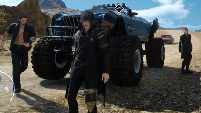 Final Fantasy 15 Type-D off-road car - How to get the monster truck upgrade in update 1.12