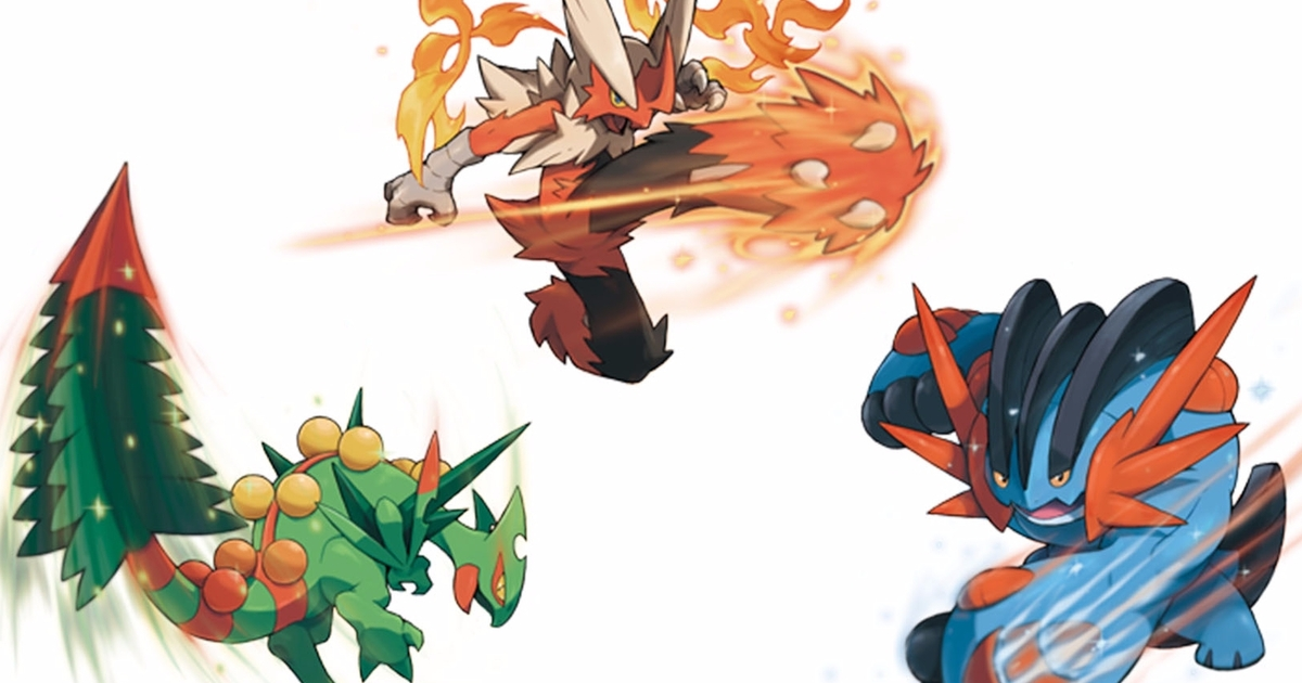 Pokémon Sun and Moon - Mega Blaziken, Swampert, Sceptile