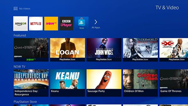 PS4's TV and Video services get a refresh