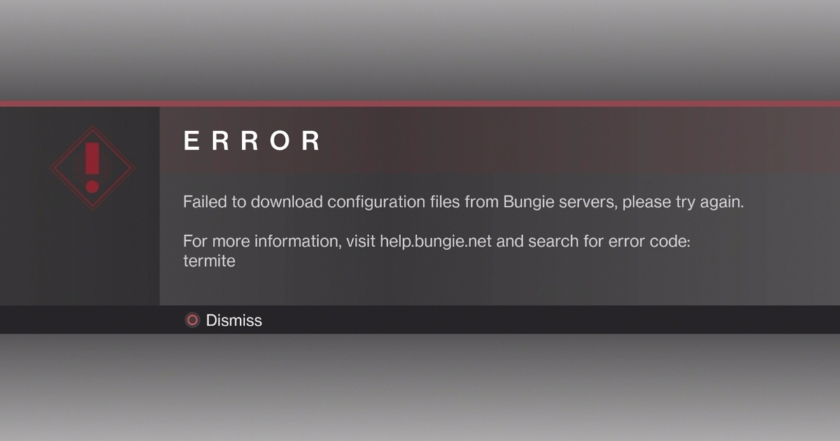 Destiny 2 error codes - Olive, Moose, Weasel and Termite ...