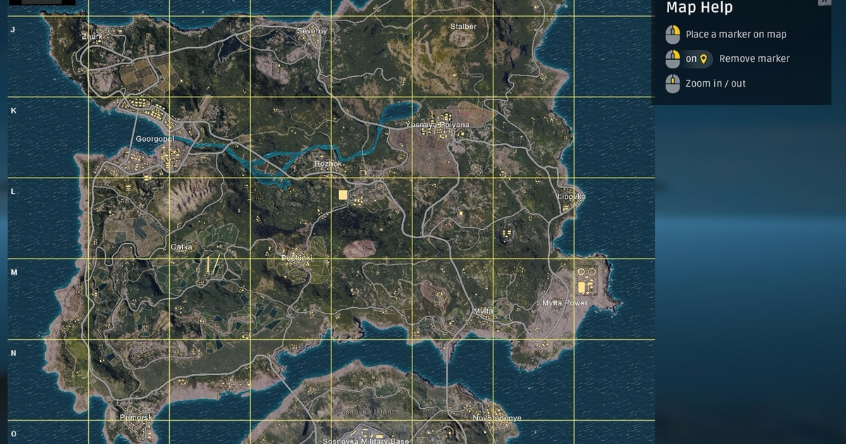 Pubg erangel map explained size best start locations and pubg erangel map explained size best start locations and erangel map strategies eurogamer gumiabroncs Gallery