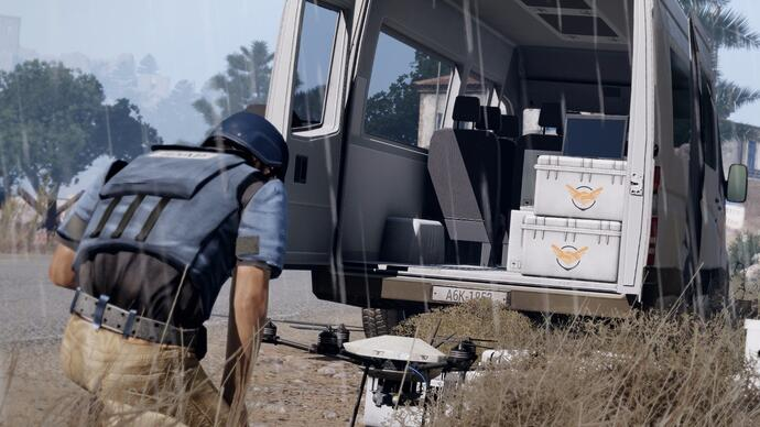 Arma 3 expansion Laws of War is about defusingmines