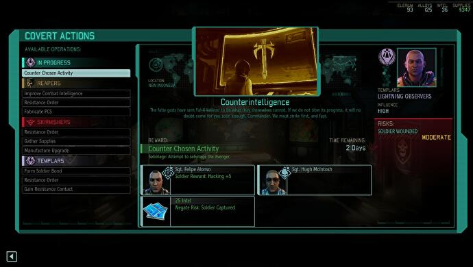 XCOM 2 Resistance Ring and Covert Actions management explained, plus