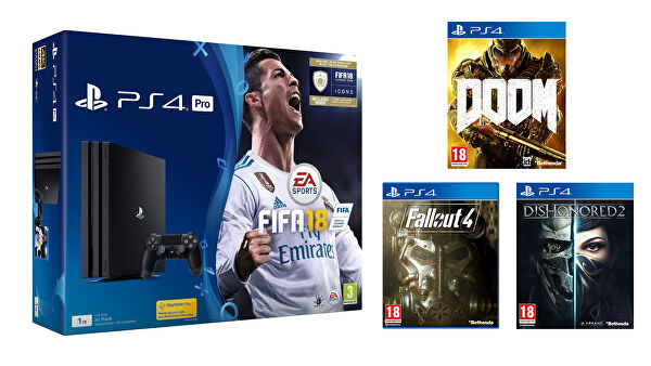 PS4_Pro_FIFA_18_Doom_Fallout_Dishonored