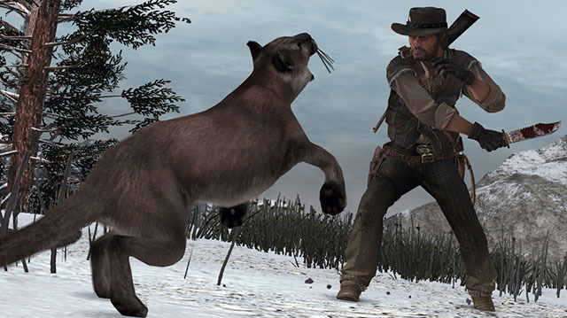It's Time to Knife Some Cougars in Red Dead Redemption