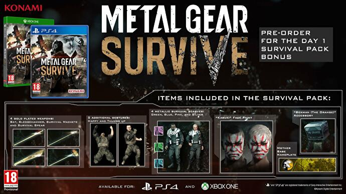 metal gear survive pre order