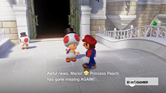 Super Mario Odyssey Talk To Toad At The Castle Archivist