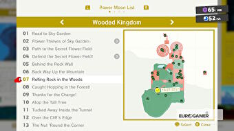Super Mario Odyssey Wooded Kingdom Power Moons - where to