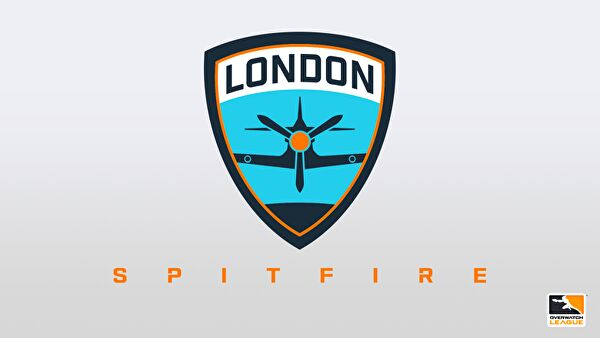 spitfire logo. london spitfire is one of 12 city-based teams from around the world competing in official overwatch league and only european team on roster. logo