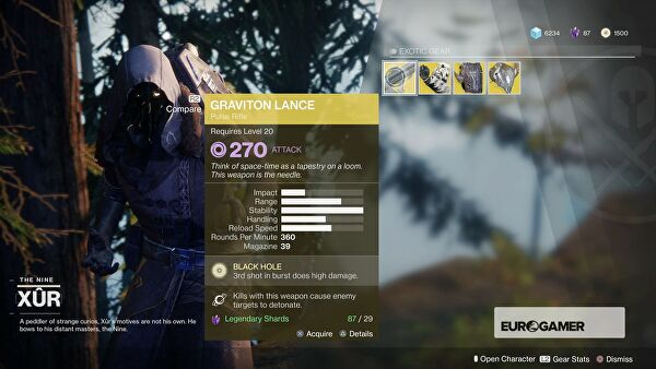 Where is Xur and what is he selling? November 3-7th edition