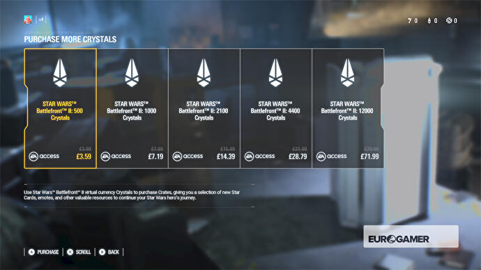 The price and state of Star Wars Battlefront 2 loot crates