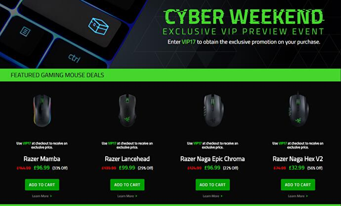 5855464347e Jelly Deals: Razer discounting its gaming hardware this weekend ...