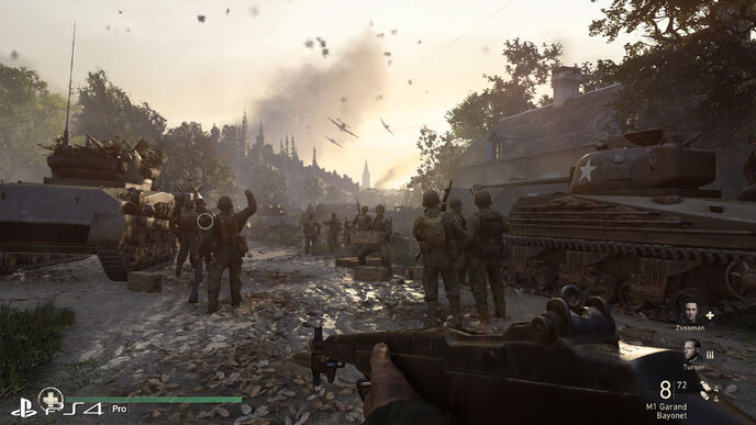 How does Call of Duty: WW2 look on Xbox One X and PS4 Pro