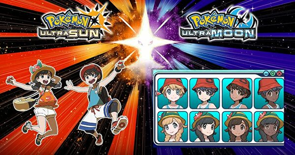 pokemon_ultra_sun_and_ultra_moon_male_and_female_main_characters_skin_options