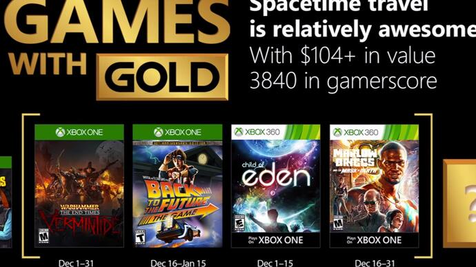 Xbox Live Games with Gold December lineupannounced