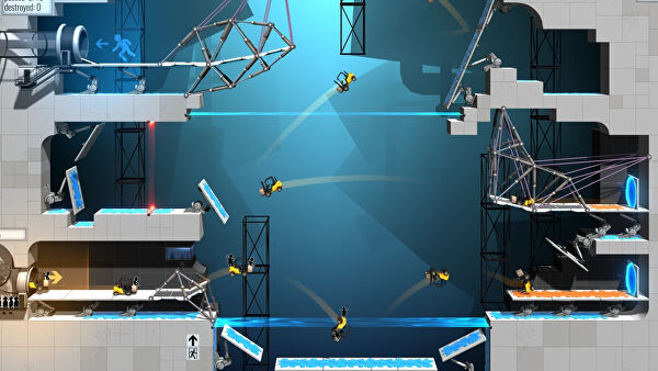 GLaDOS Returns In Bridge Constructor Portal On Nintendo Switch