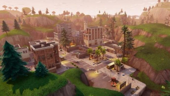 Fortnite Battle Royale update past map aan