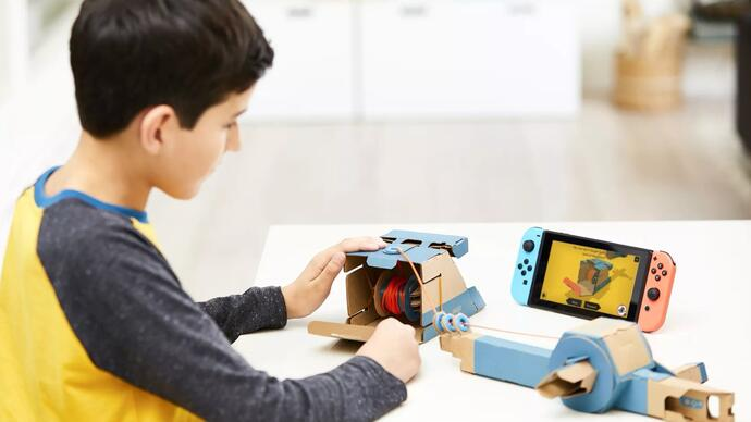 Nintendo has announced Nintendo Labo, a bizarre new interactive cardboard toy line