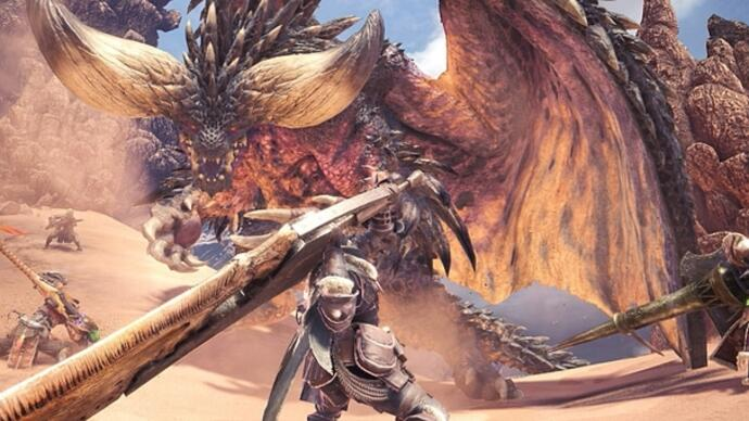 Day one patch voor Monster Hunter World is 815 MBgroot