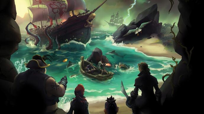 A beta de Sea of Thieves foi prolongada