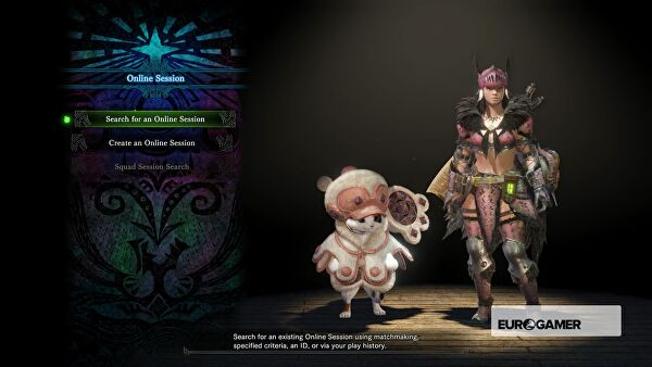 Monster hunter world multiplayer how to join friends join squads this essentially allows you to find an session with random other players a closed lobby which a friend or squad member has made or start your own solutioingenieria Choice Image