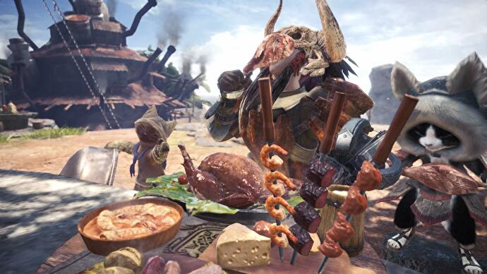 monster_hunter_world_canteen_eating