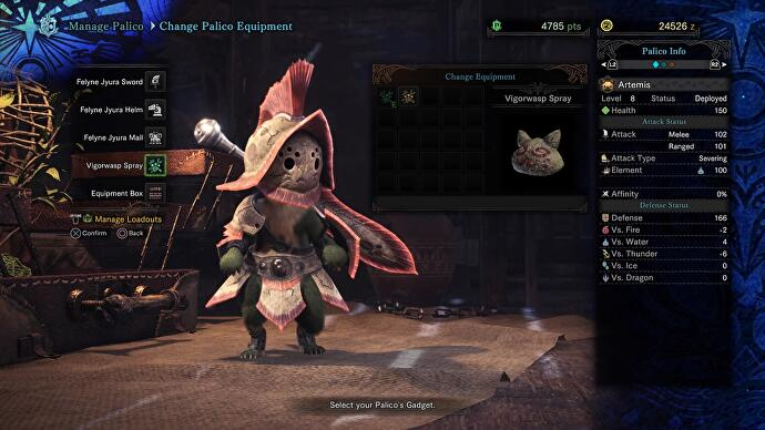 Monster Hunter World Palico upgrades - Palico Gadgets