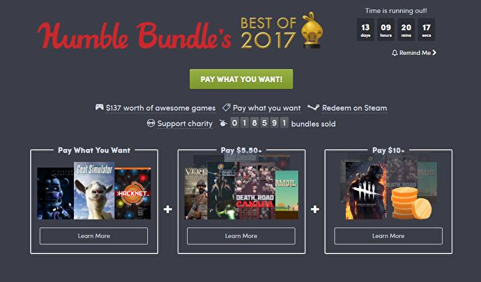Humble Bundle Free Games 2020.Jelly Deals There S A Best Of 2017 Sale At Humble This