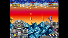 The complete director's cut edition of Super Turrican is included with the Super Nt. The original six megabit release was reduced to fit on a four megabit ROM, lowering production cost in the process, but losing content.