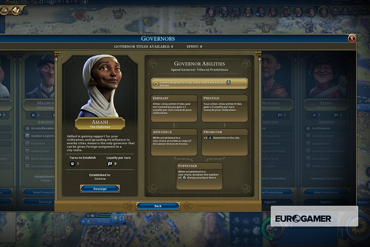 Civilization 6 Loyalty and Governors explained - how to